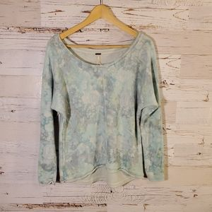 Free People floral sweater